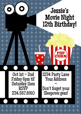 Movie Night Invitation - Editable!