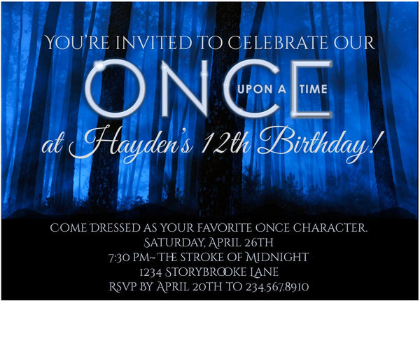Once Upon a Time Party Set - EDITABLE!