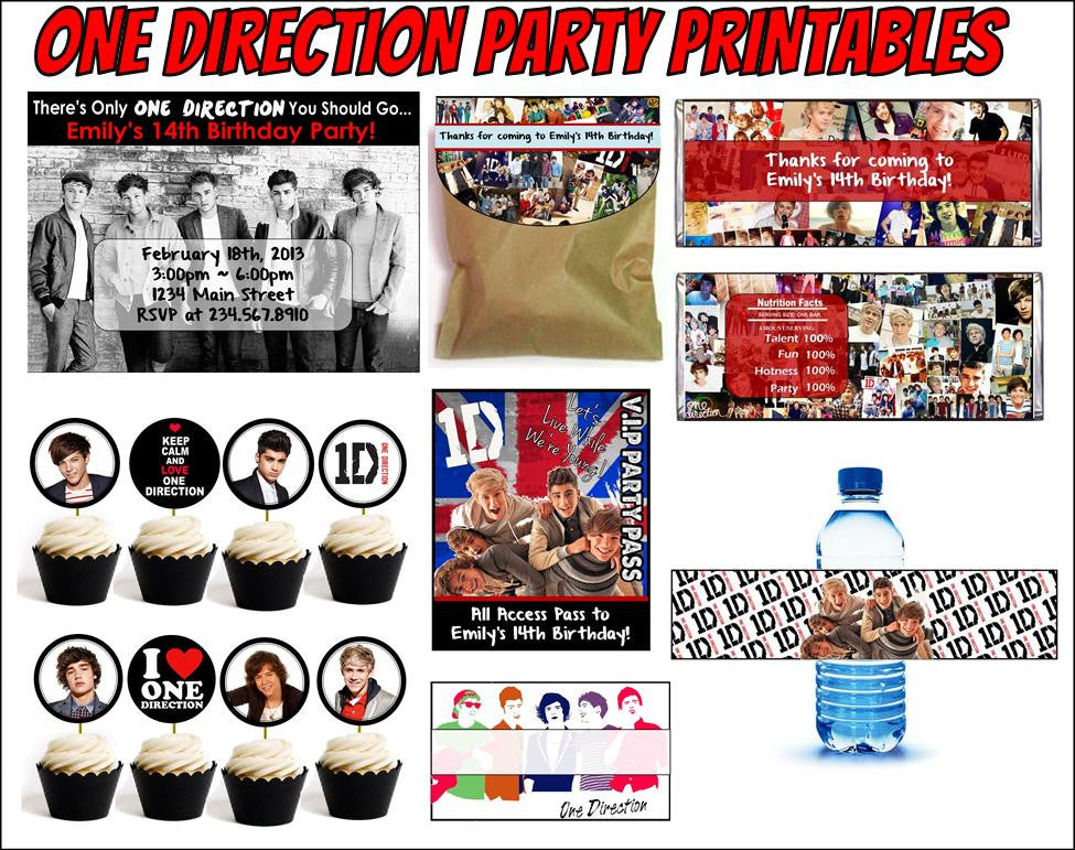 One Direction Party Printables - EDITABLE!