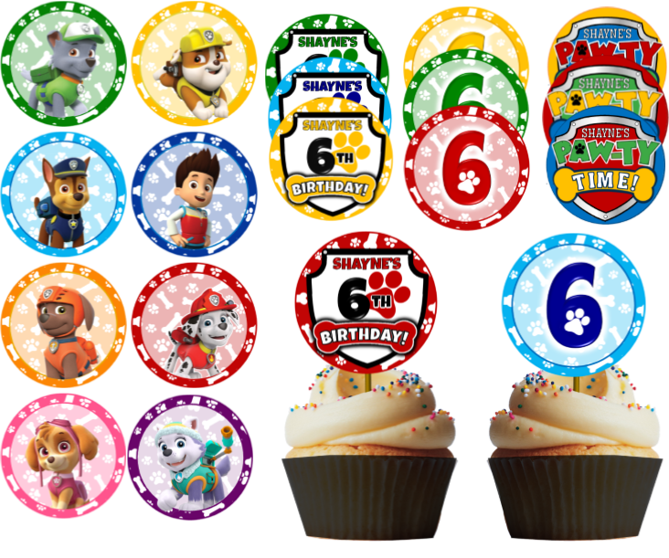 photo relating to Paw Patrol Printable Decorations titled Paw Patrol Get together Printables - Customized PartyGamesPlus