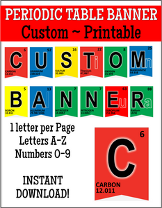 Periodic Table Banner - Customizable