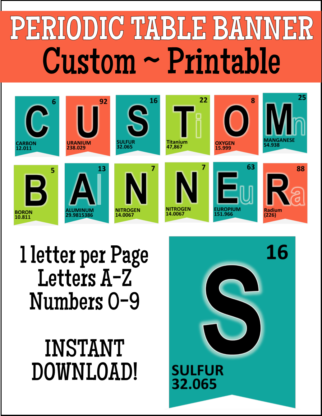 Periodic Table Banner - Custom