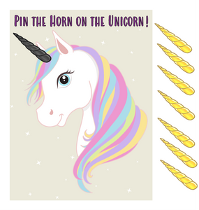 Pin the Horn on the Unicorn Game