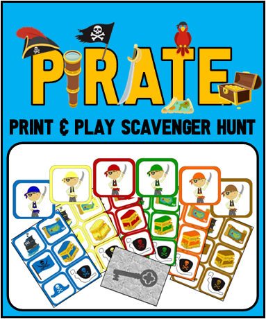Jr. Pirate Picture Scavenger Hunt
