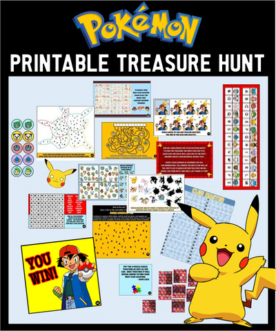 Printable Pokemon Treasure Hunt