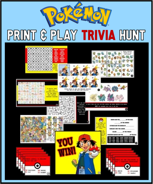 Pokemon Trivia Treasure Hunt