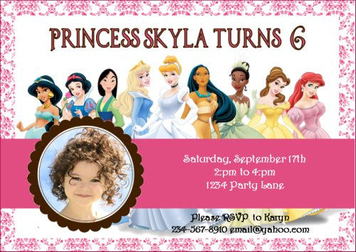Epic Princess Party Invitation - PERSONALIZED