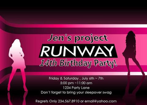 Project Runway Party Invitation - PERSONALIZED