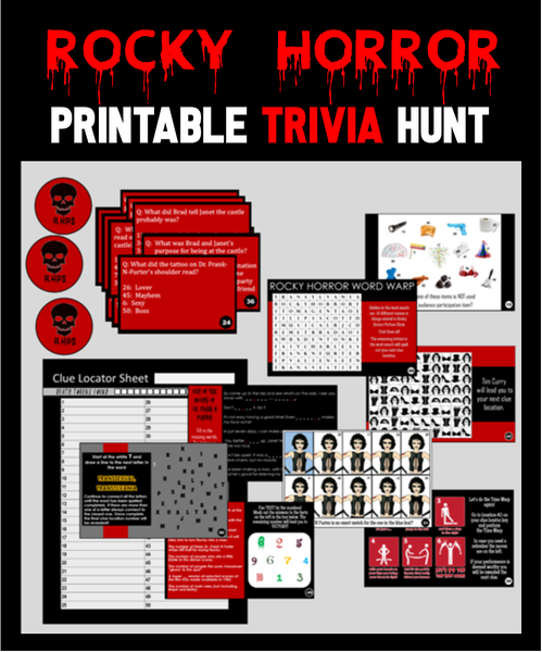 Rocky Horror Trivia Treasure Hunt