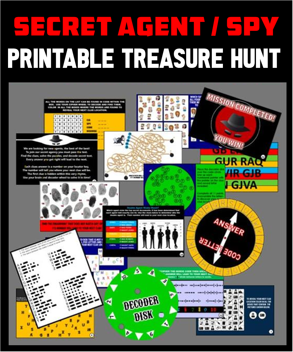 Secret Agent Treasure Hunt