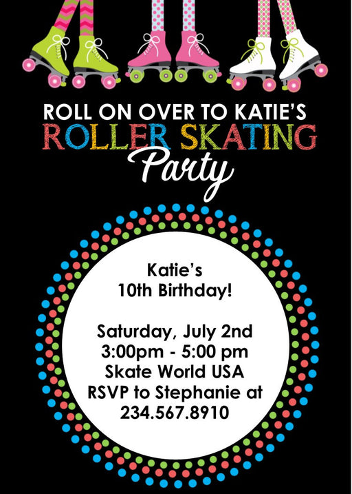 Skate Party Invitation - Editable