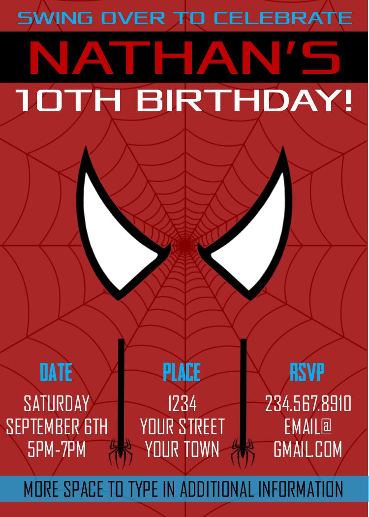 Spiderman Party Invitation Images - Party Invitations Ideas