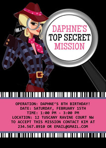 photograph regarding Spy Party Invitations Printable Free identified as Spy Woman Detective Get together Invitation - Editable!