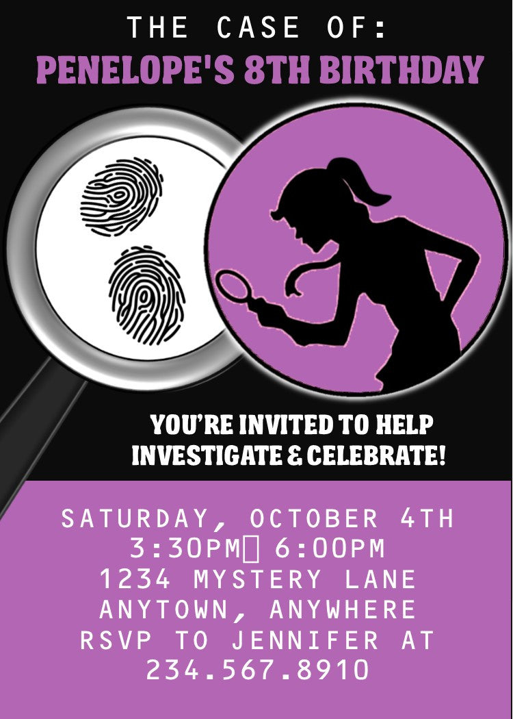 Spy Party Invitations cards to send online nursery rhyme baby – Spy Party Invitations