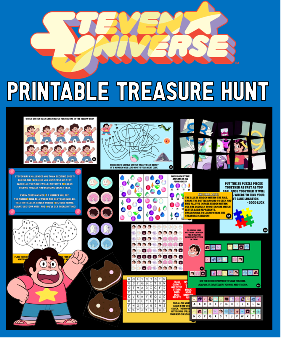 Steven Universe Printable Treasure Hunt