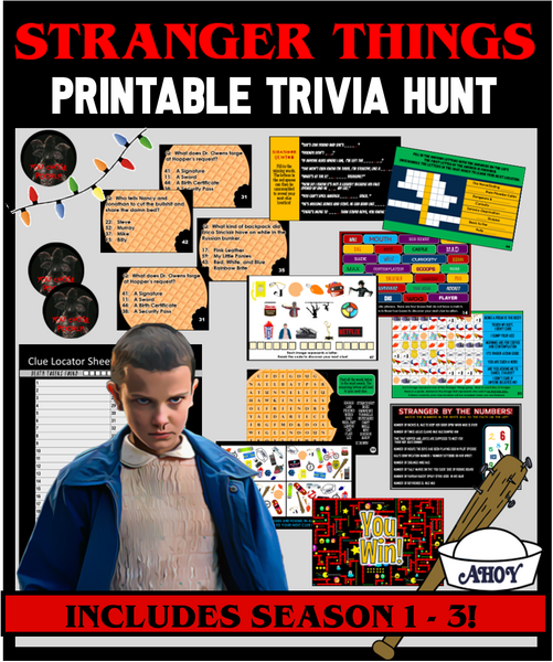 Stranger Things Trivia Treasure Hunt
