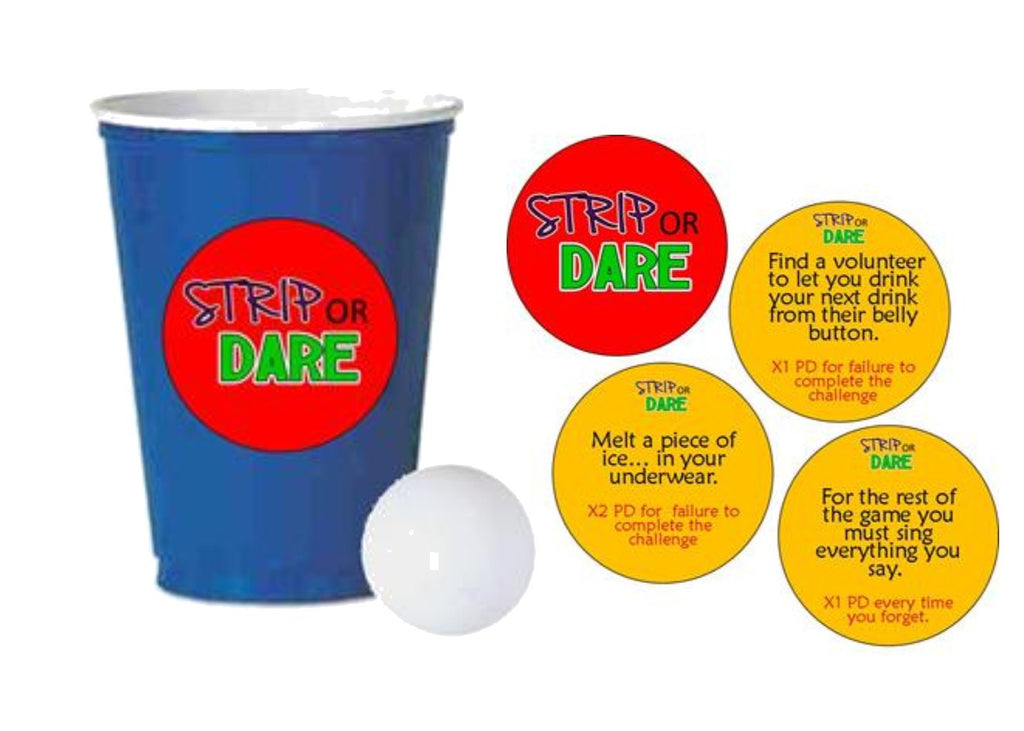 Strip or Dare Beer Pong Drinking Game