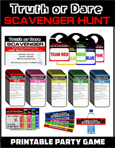 Teen Truth or Dare Scavenger Hunt