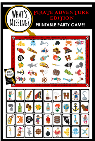 What's Missing - Pirate Adventure Party Game!