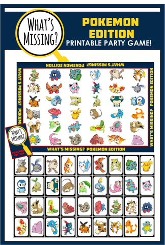 What's Missing - Pokemon Party Game!