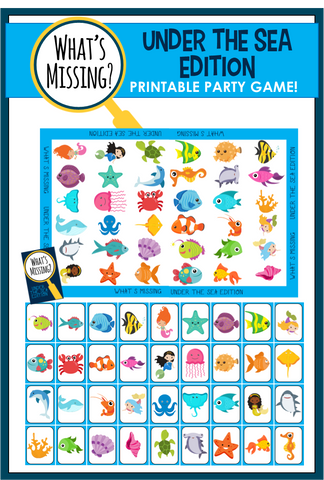 What's Missing - Mermaid / Under the Sea Party Game!