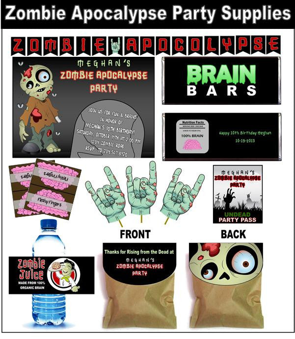 Kid's Zombie Apocalypse Party Set - PERSONALIZED