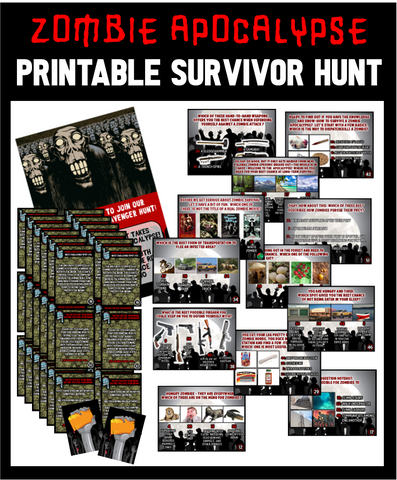 Zombie Apocalypse Trivia Treasure Hunt