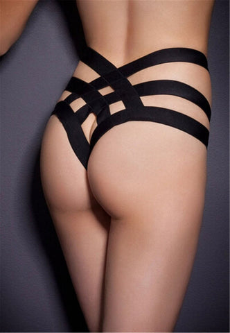 Sexy Cage Bandage Brief Thong