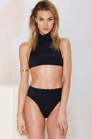 Deep Water High-Waisted Bikini