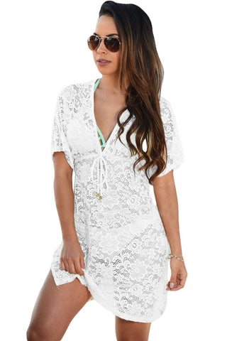 See-through Lace Cover Up Dress