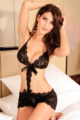 Love Affair Black Lace Teddy Lingerie - INSOMNIA  - 1