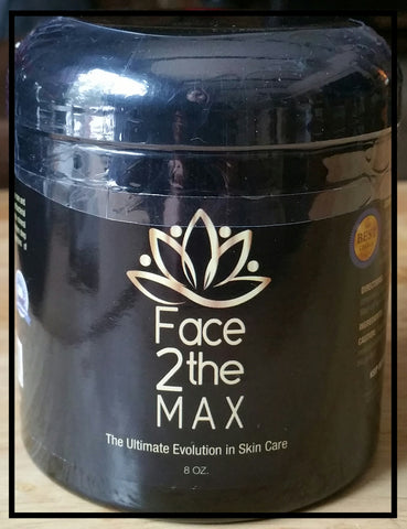Face2theMAX 8oz  Ultimate Face Mask Cleanse. (Oregon Blue Clay) US Free Shipping
