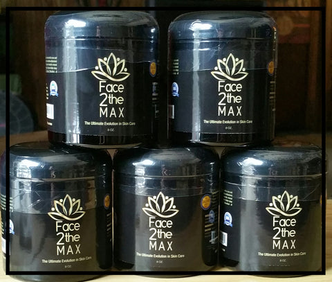 (5) 8oz Face2theMAX  Ultimate Face Mask Cleanse (Oregon Blue Clay) US FREE SHIPPING