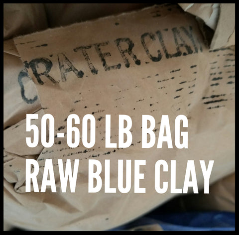 RAW OREGON BLUE CLAY 50LB BAG (FREE SHIPPING USA) WHOLESALE PRICE OFFERED TO PUBLIC!!