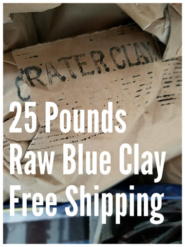 25LBS Raw Oregon Blue Clay (Free Shipping in USA) Wholesale Price to PUBLIC!