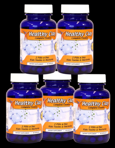 (5)Edible Healthy Clay Cleanse (capsules)- Oregon Blue Clay  US FREE SHIPPING