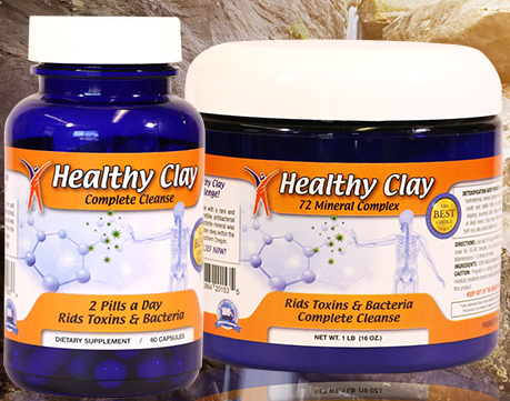 (1)Edible Healthy Clay Cleanse Capsules and (1) Healthy Clay Bath Product (Oregon Blue Clay)