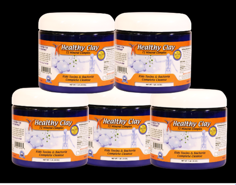 (5) Healthy Clay Cleanse Powder Bath Natural Healing Clay- (Oregon Blue Clay) US FREE SHIPPING