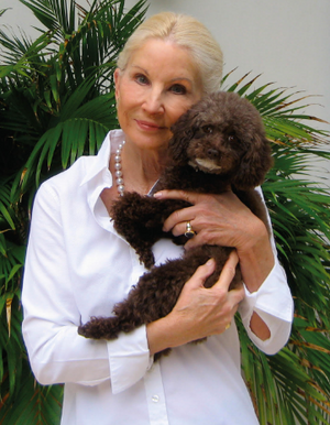 Cynthia Bardes and Pansy the Poodle
