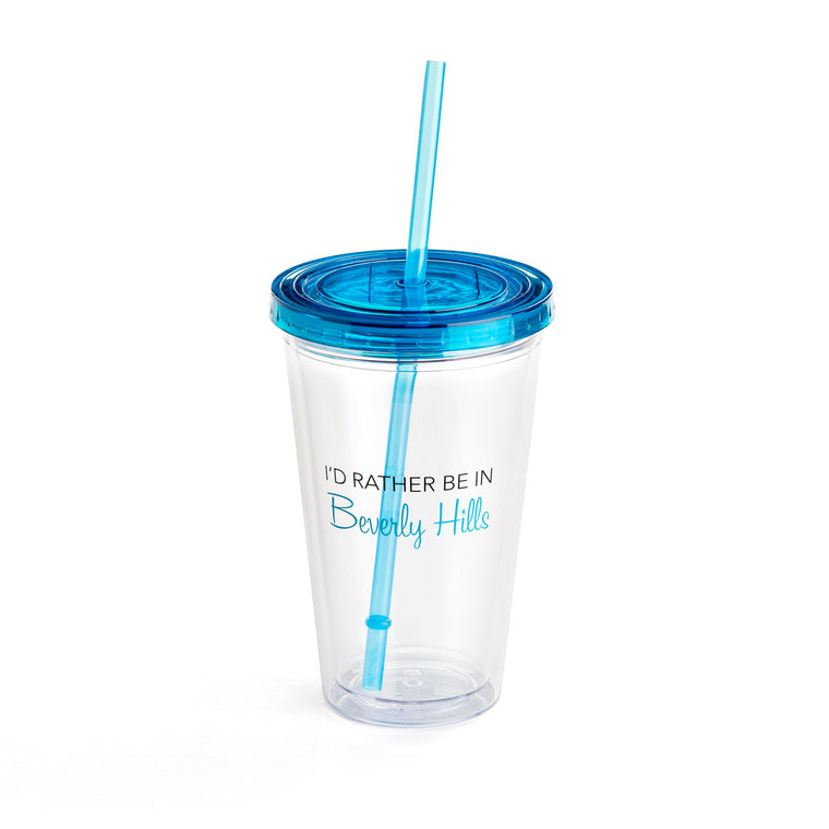 Beverly Hills tumbler for iced tea to go