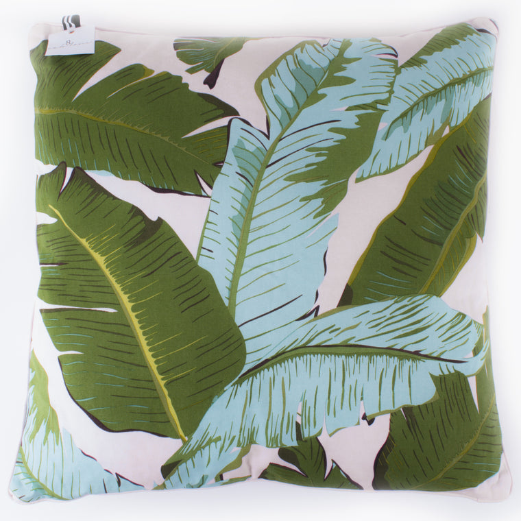 Beverly Hills banana leaf throw pillow