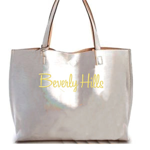 Silver Beverly Hills tote
