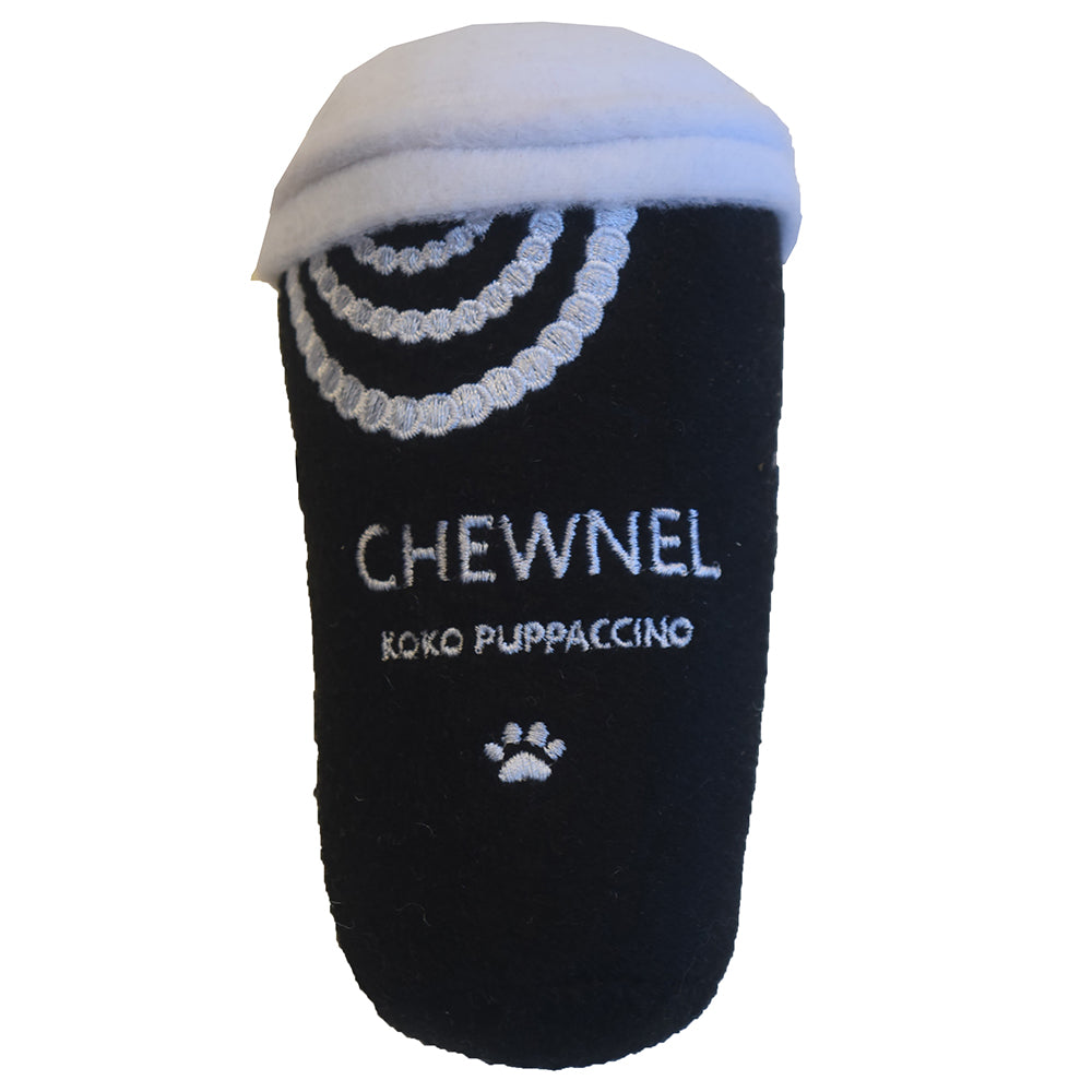 chewnel dog toy puppacino