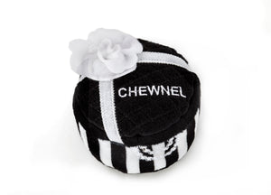 Dog toy a la Chanel