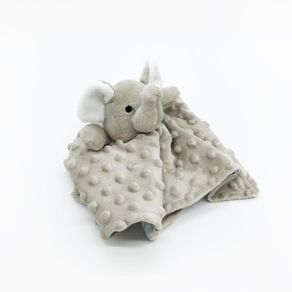 security blanket gray elephant soft