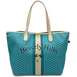 Beverly Hills Never Full Turquoise Tote