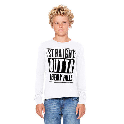 Straight Outta Beverly Hills Kid's tee shirt