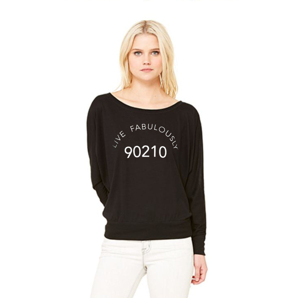Sexy 90210 women's black sweatshirt