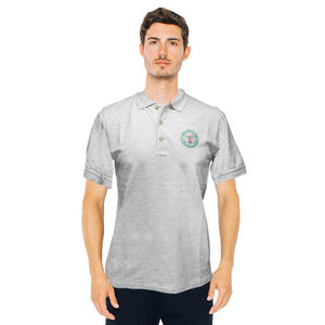 beverly hills gray mens polo