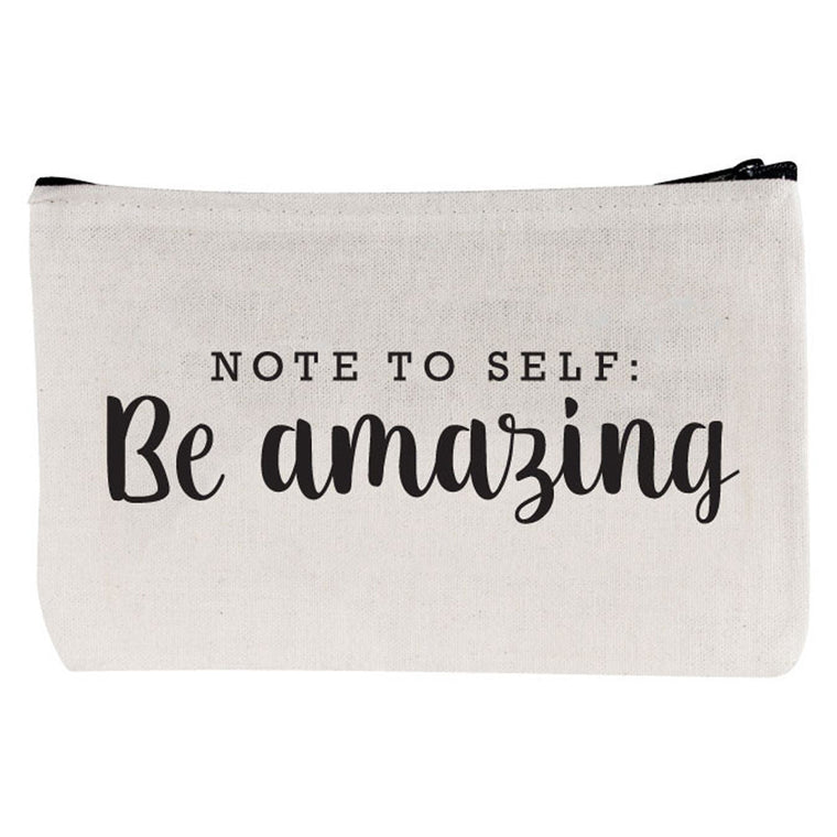 "Beverly Hills 90210 zipper pouch ""Be Amazing"""